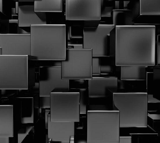 Фотообои Черные лаковые кубы 11433