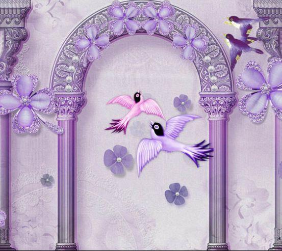 Фотообои арка и птицы 24894