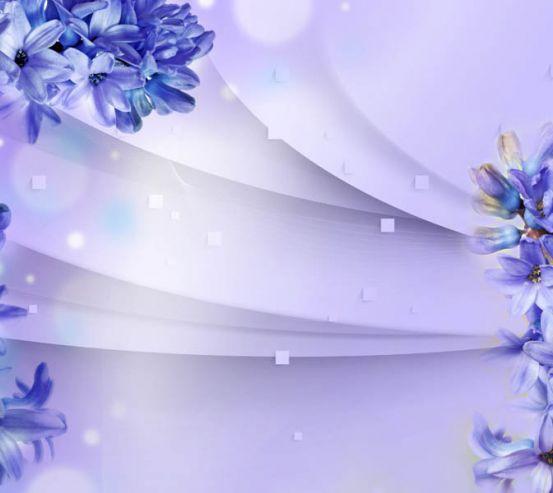 Фотошпалери фіолетові гіацинти 3д 29015