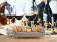 Фотообои вино и тарталетки - 1