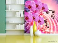 Фотообои Сиреневые распустившиеся орхидеи - 3