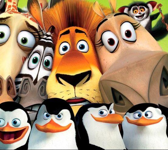 Фотообои Пингвины Мадагаскара 8006