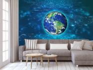 Фотообои полоски вокруг Земли - 3