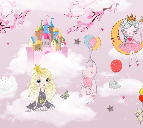 Фотошпалери Рожеві принцеси 24092