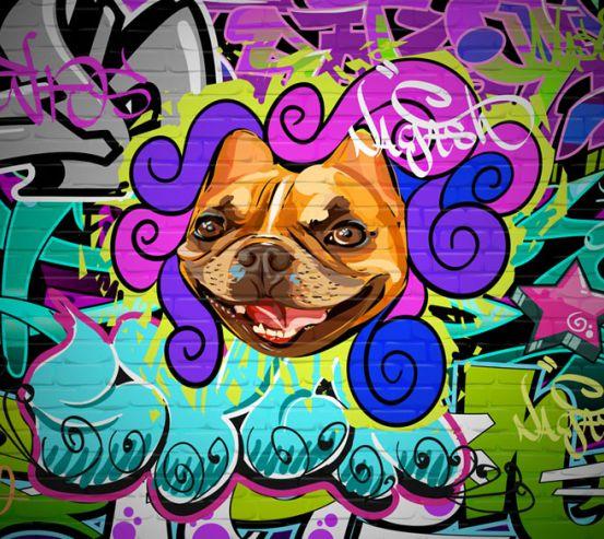 Фотообои Яркое граффитти 22653