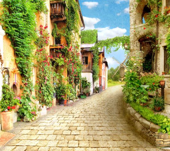 Фотообои Прованская улочка 22779