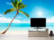 Фотообои Пальма, солнце, пляж - 2