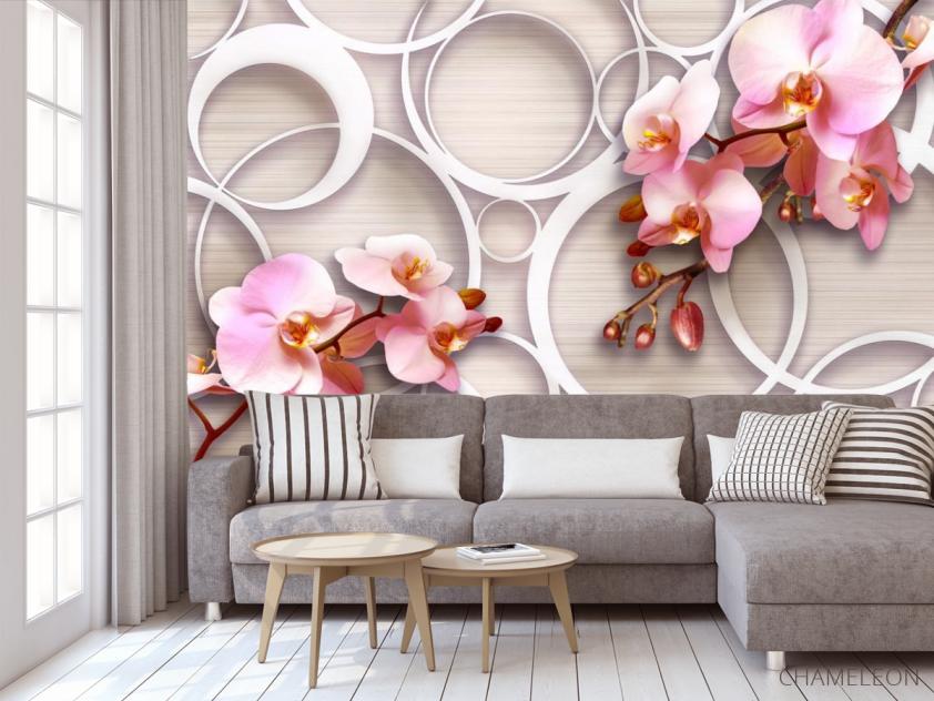 Фотообои Орхидеи 3д - 3