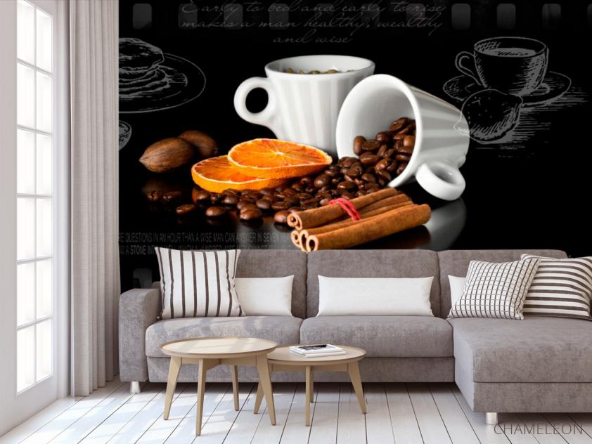 Фотообои в кухню Кофе - 3