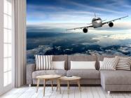 Фотообои самолёт над облаками - 3