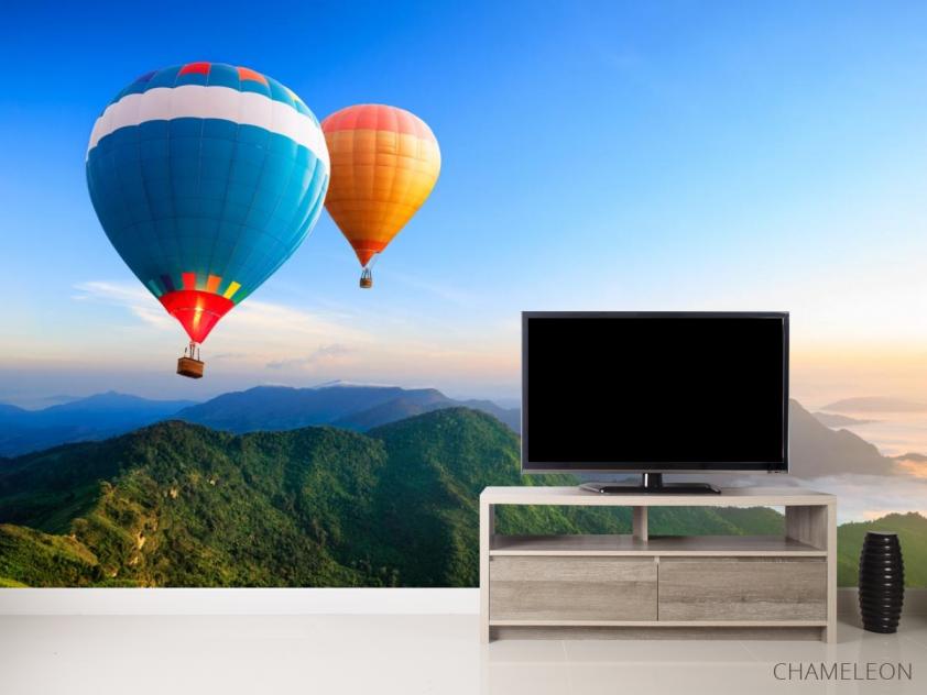 Фотообои воздушные шары над горами - 2