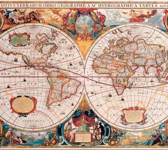 Фотообои Политическая карта Средневековья 7192