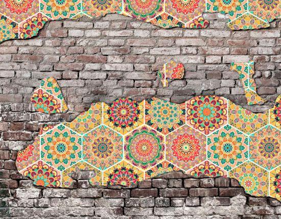 Фотообои Индийские мотивы на стене
