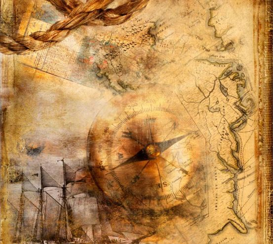 Фотообои Карты и компас 0049