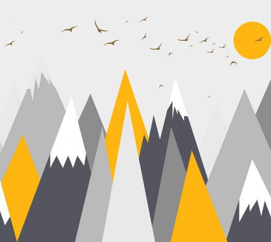 Фотошпалери Помаранчеві гори 24077