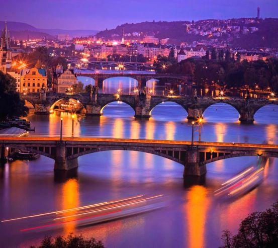 Фотообои Мосты ночью 13461