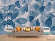 Фотообои серо-голубые листья - 1