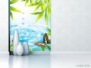 Фотообои капля в воду и бабочка - 1