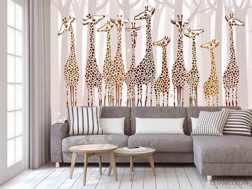 Фотообои Жирафы - 3