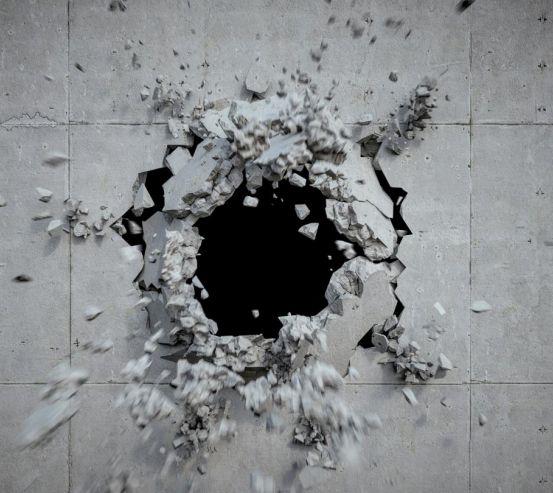Фотошпалери Розбита кам'яна стіна 21039
