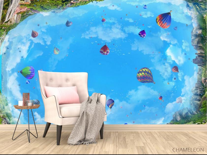 Фотообои Воздушные шары на потолок - 4