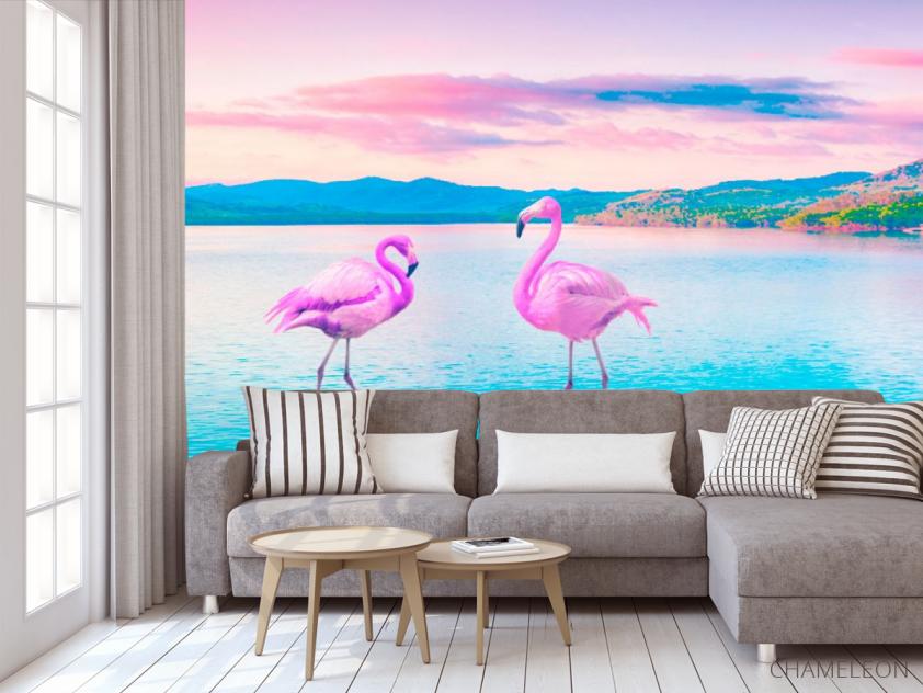Фотообои Фламинго - 3