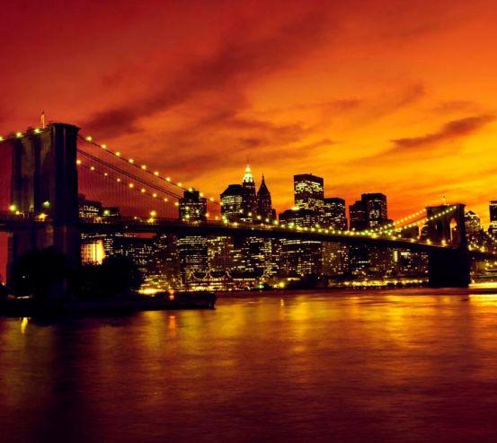 Фотообои Зачарованный ночной мост 6641
