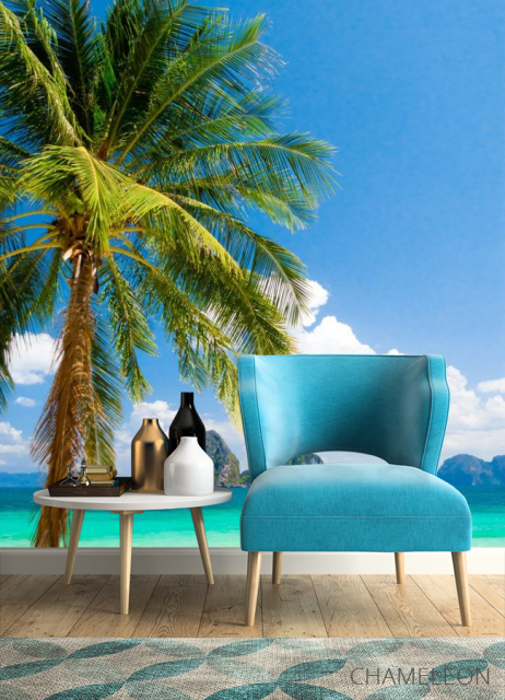 Фотообои пальма на берегу моря - 4