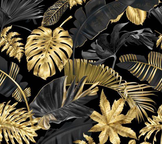 Фотообои Тропические золотые листья 25740