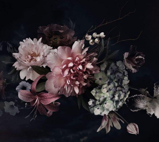 Фотообои Винтажный тёмный букет 24041