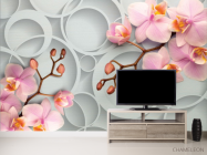Фотообои Розовые орхидеи - 2