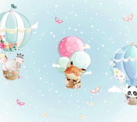 Фотообои Голубые воздушные шарики 23982