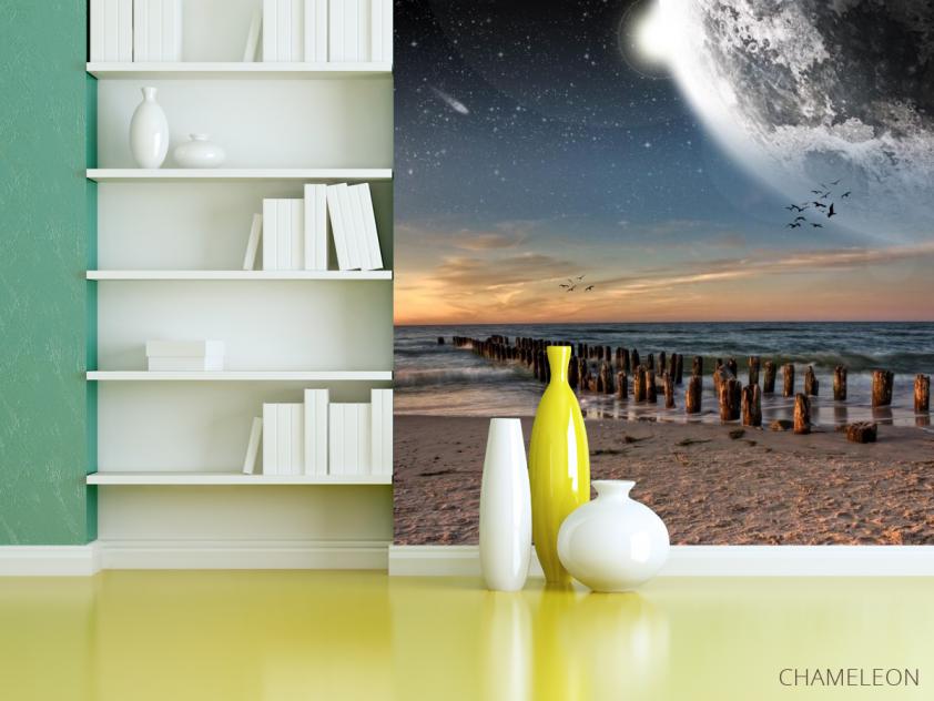 Фотообои луна над морем - 3