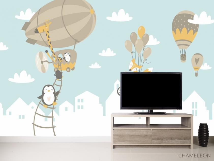Фотообои Зверюшки на воздушных шарах - 2