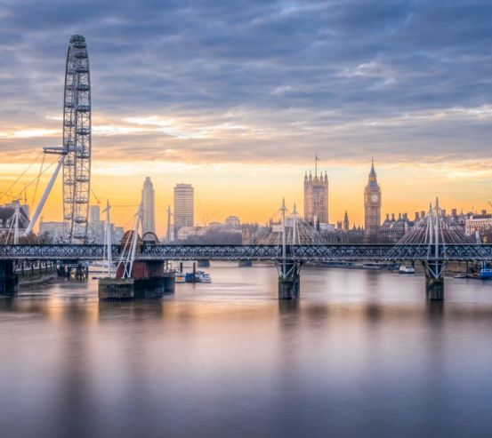 Фотообои мост над рекой в Лондоне 21208