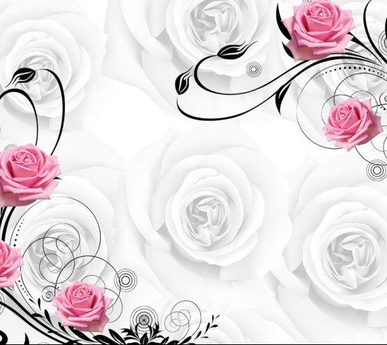 Фотообои Розы на атласе 19978