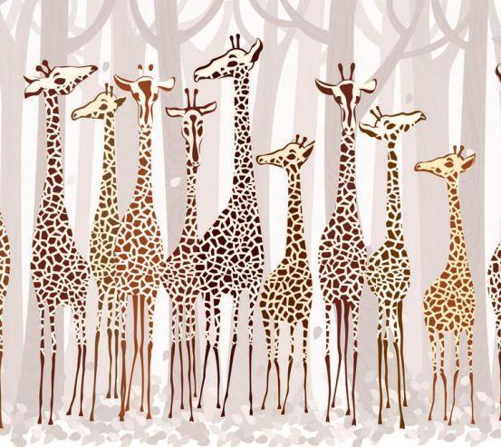 Фотообои Жирафы 17249