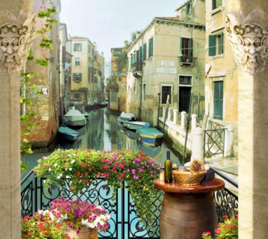 Фотошпалери Вид з арки на Венецію 26590