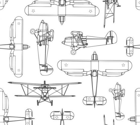 Фотообои Самолет в скандинавском стиле 22745