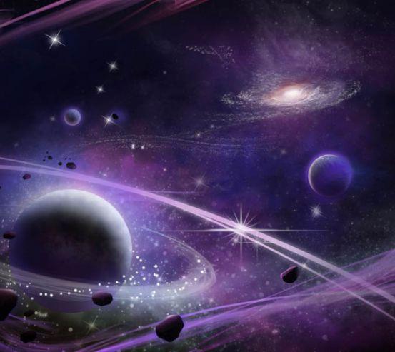 Фотообои Фиолетовые планеты 28693