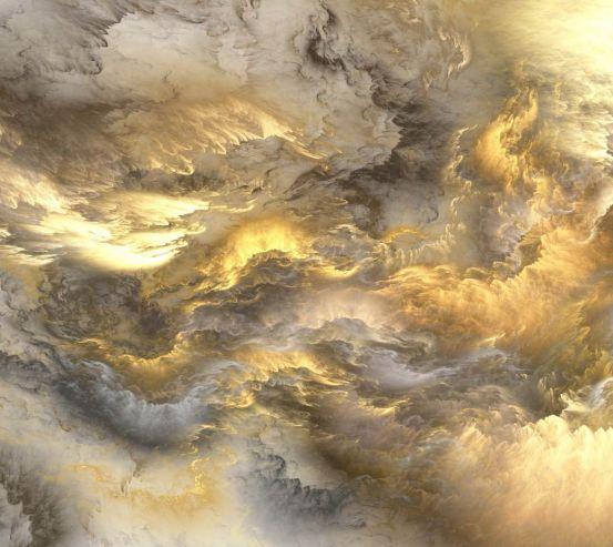 Фотообои Золотая абстракция 23858