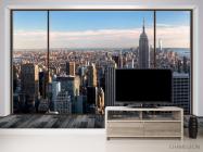 Фотообои Вид из окна, город - 2