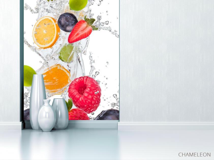 Фотообои фрукты с водой - 1
