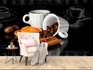 Фотообои в кухню Кофе - 4