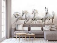 Фотообои четыре белые лошади - 3