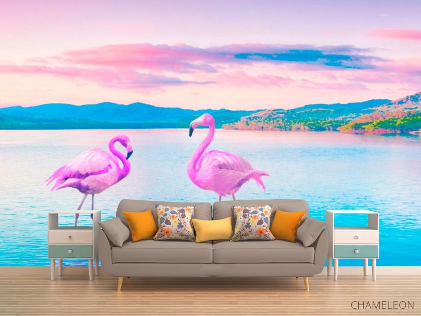 Фотообои Фламинго - 1