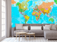 Фотообои Карта мира на английском - 3