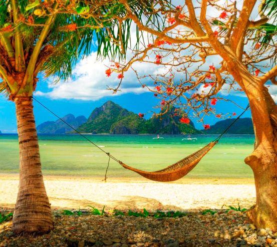 Фотообои Гамак на пляже 0529