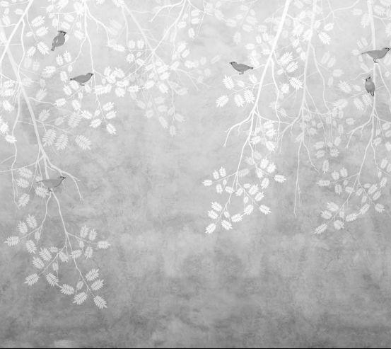 Фотообои птицы на ветке 20064-h