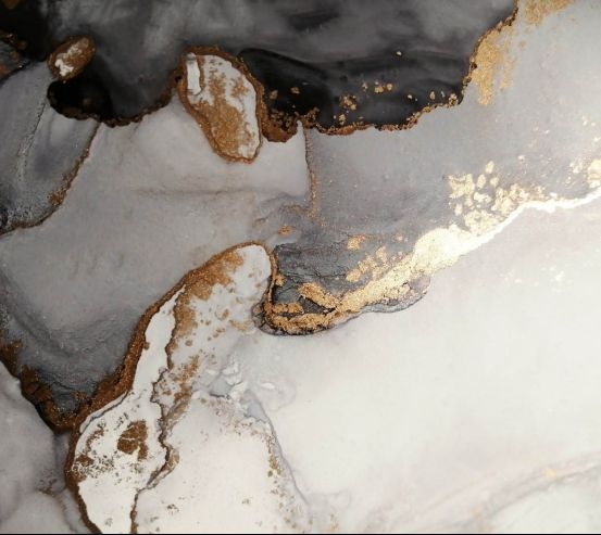 Фотообои Флюид чб с золотом 24753